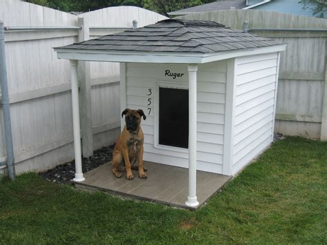 two dogs in a house pallet dog house building tips