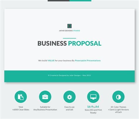 business proposal powerpoint template on behance