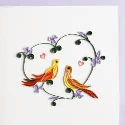 love birds quilling card fair trade winds