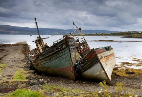 pictures of old boats old boats isle of mull by damiankane on deviantart