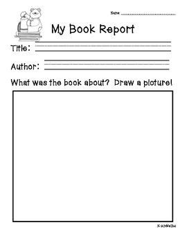 Free Book Report Templates For Kindergarten Book Report Forms For Primary Grades