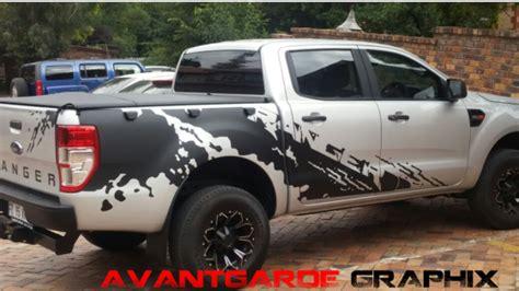 Sticker Raptor Sticker Mobil Ford Ranger Kaca ford ranger and raptor stickers in silver and matte black