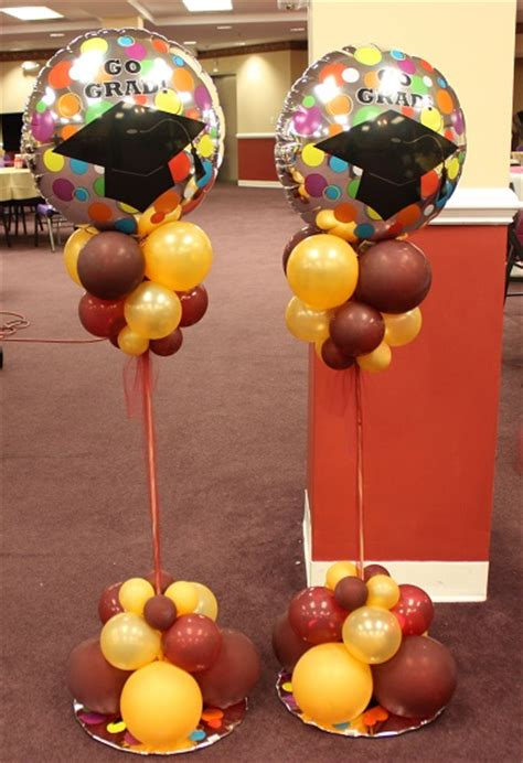 burgundy and gold decorations graduation decor balloon decoration in maryland dc and