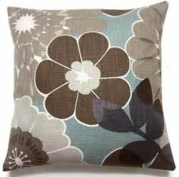 decorative pillow covers brown gray taupe cadet blue