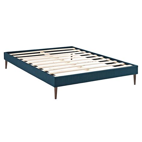 Solid Platform Bed Frame No Slats Azure Fabric Modern Platform Bed Frame Eurway