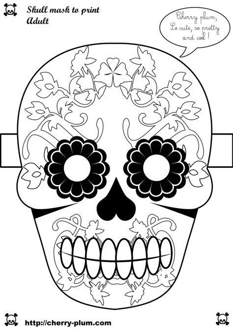 Papercraft Skull Mask - skull mask to print papercraft dia de