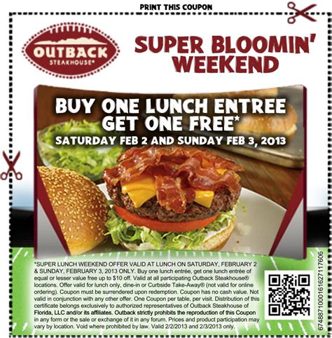 outback coupons for