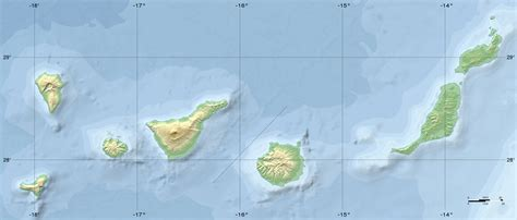 best of the canary islands topographic map of the canary islands 3045x1303 mapporn