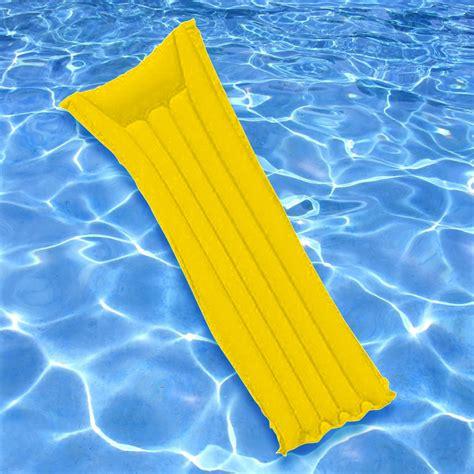 sunsplash swimming pool lake 72 quot x 27 quot econo air mattress float yellow 34261020446 ebay
