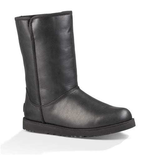 black leather ugg boots ugg australia boots leather black fredericks