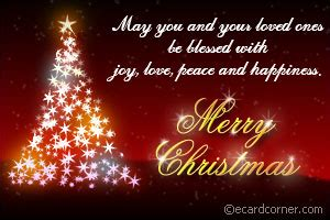 merry chrstmas blessings christmas  ecardcorner