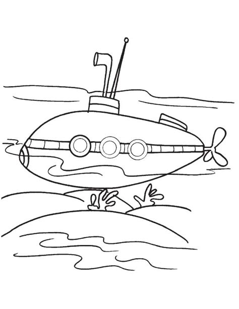 Free Coloring Pages Of Submarine D Submarine Coloring Pages