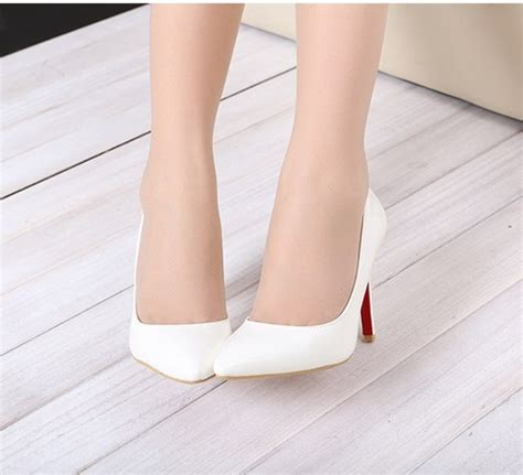 womens high heels with bottoms white thin heel pointed s pumps high heels
