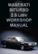 service manual free workshop manual 1985 maserati biturbo maserati repair manuals workshop manuals service manuals