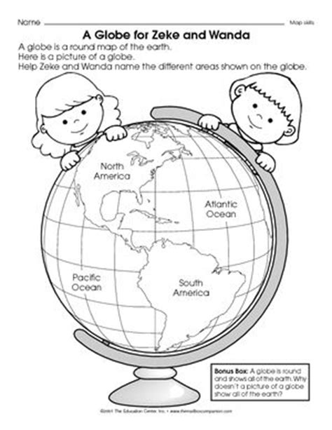 globe and maps lesson plan map and globe skills worksheets 2nd grade social studies