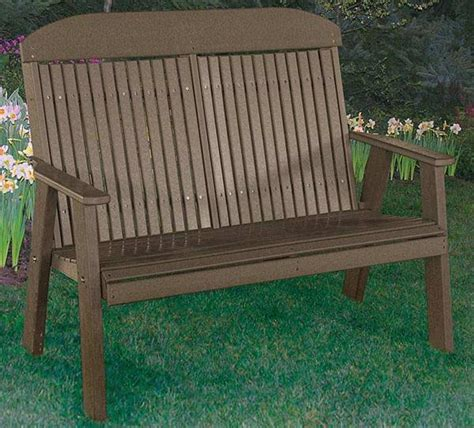 poly ohio amish outdoor furniture four foot bench classic