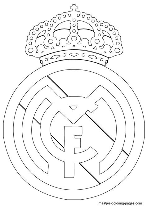 real madrid logo coloring page shoes pinterest