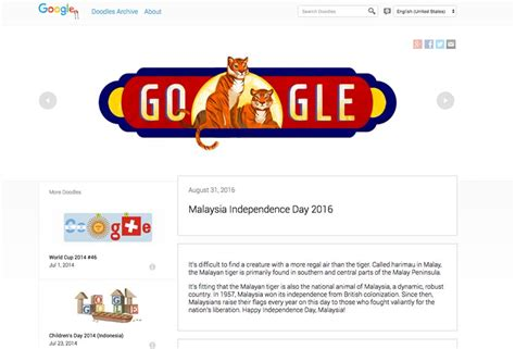 malaysia day doodle special doodle in conjunction with malaysias