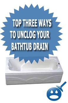 top three ways to unclog your bathtub drain media
