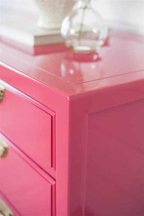 high gloss painted finish  vintage wood