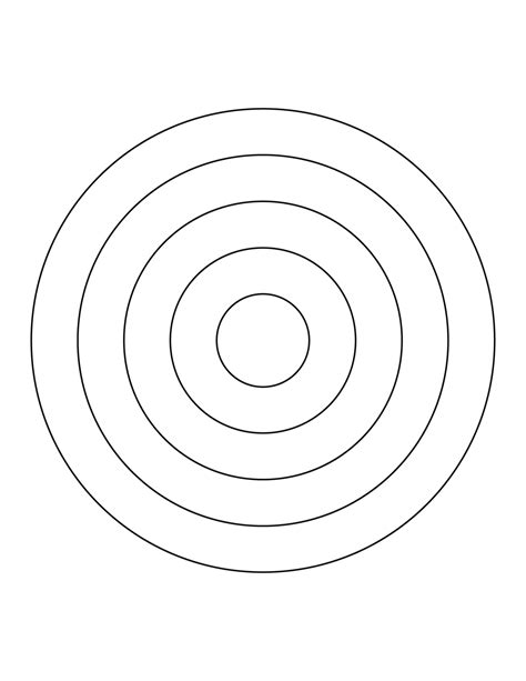 5 Concentric Circles Clipart Etc Concentric Circles Template
