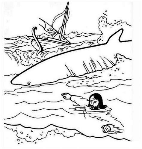 jonas y el gran pez dibujos para colorear free coloring pages of jonas y el gran pez