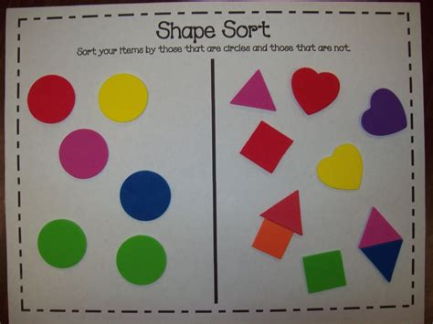 Sorting Shapes Worksheets For Kindergarten by 2d Shapes Crafts Preschool
