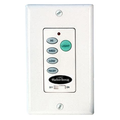 ceiling fan wall remote shop harbor wall mount ceiling fan remote at lowes com