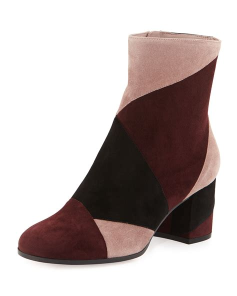 Patchwork Shoes - gianvito patchwork suede ankle boot lyst