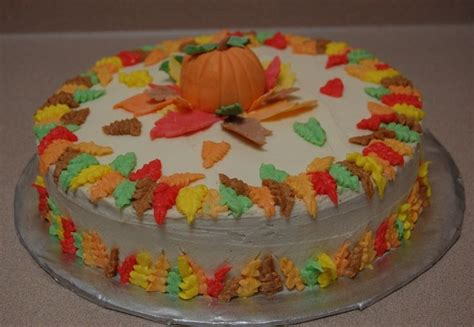 decorated fall cakes fall decorated cake food
