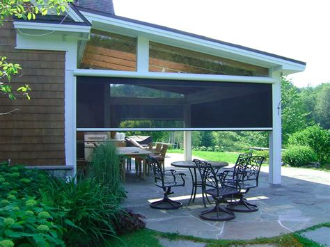 retractable screens for patio motorized patio shades window treatments