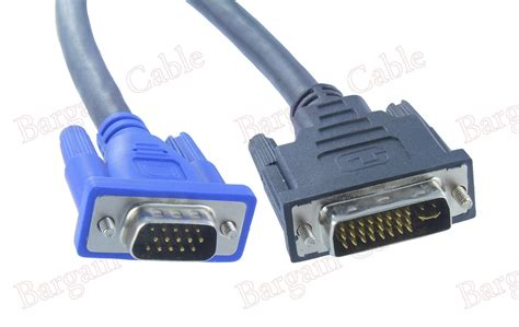 Adapter Vga 15 Pin Ke Dvi I 24 5 Pin Gray T3010 1 10 ft 3m dvi i 24 5 to vga svga cable for monitor dvii1 h151 10
