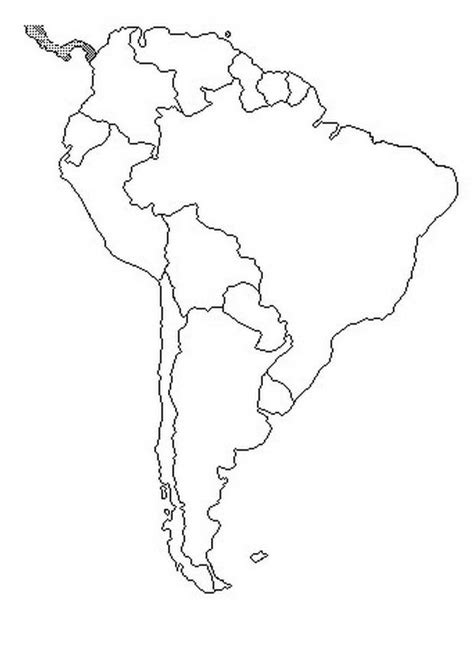 coloring page map of south america map of south america coloring color area