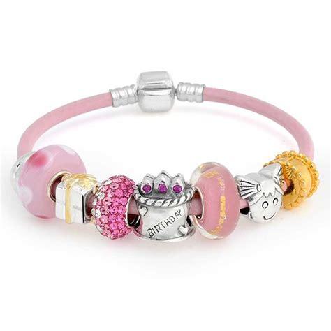 sterling silver birthday present bead bracelet