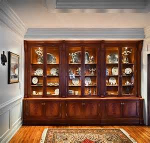 Custom Dining Room China Cabinets Custom Made Traditional China Cabinet By Cabinetmaker