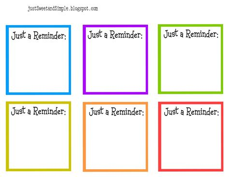 reminder card template just sweet and simple lunch notes reminder notes