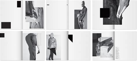 layout photo fashion rick owens lookbooks layout by non format