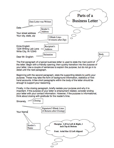 Parts Of Business Letter parts of a business letter the best letter sle