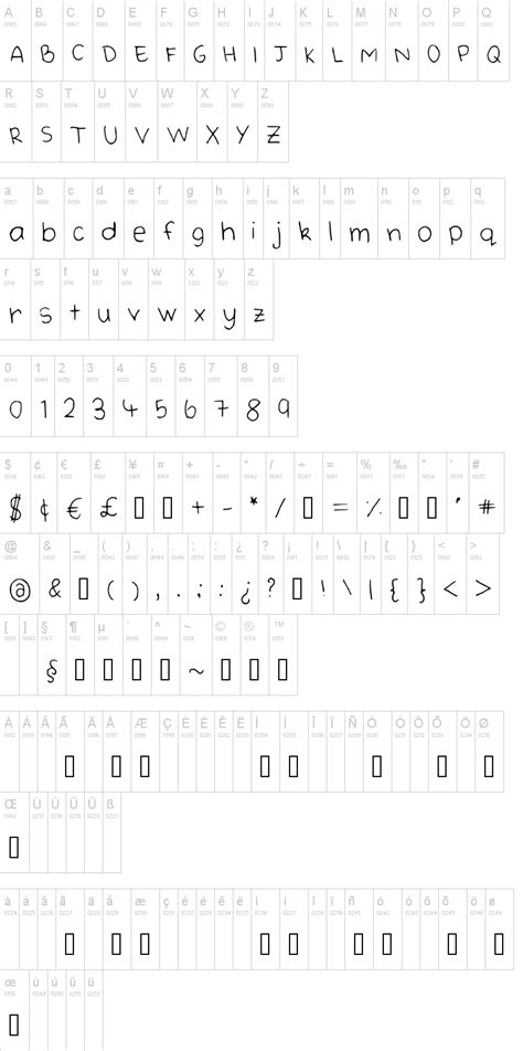 dafont korean handwriting font