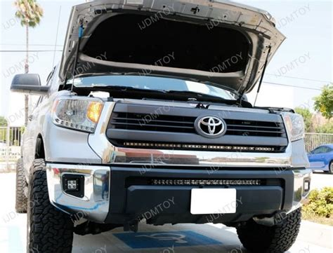 tundra led light bar 1 piece lower bumper grill mount for 2014 up toyota tundra