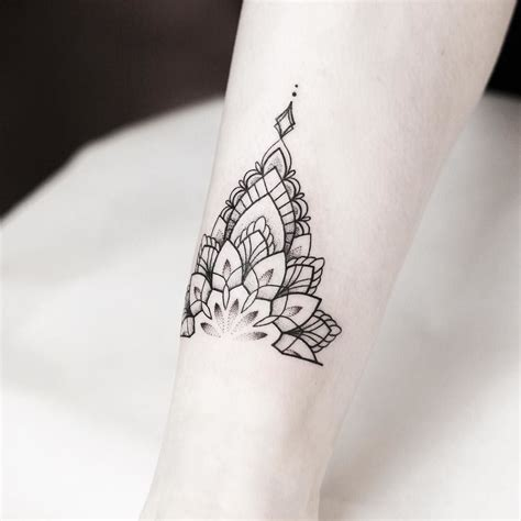 sacred lotus tattoo mandala anklet rachainsworth piercing
