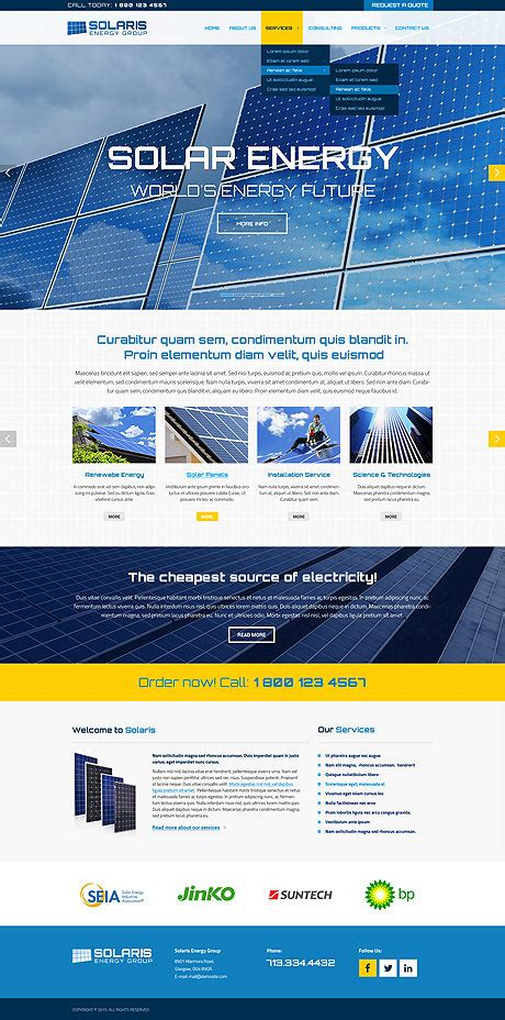 bootstrap themes energy solar energy bootstrap template id 300111856