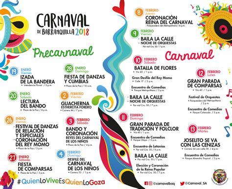 Calendario 2018 Carnaval Carnaval 2018 Carnaval De Barranquilla