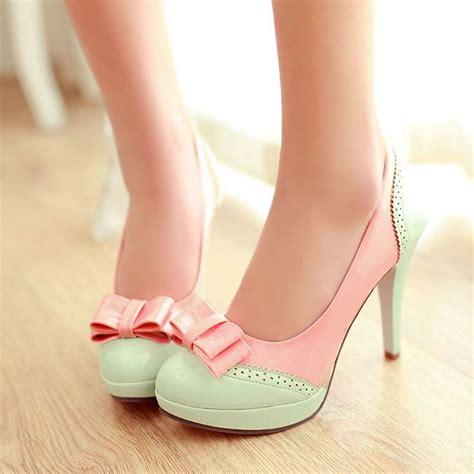 Higheels Details details about bow sweet platform high heels leather pumps shoes plus size