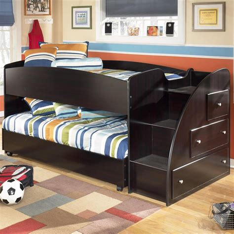 ashley furniture storage bed twin loft bed with caster bed and right storage steps by