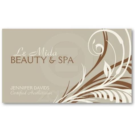 boutique spa beauty hair or nail salon business card