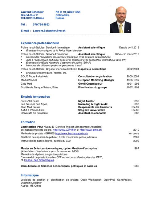 Pr Sentation Lettre Suisse Cv Laurent Schenker