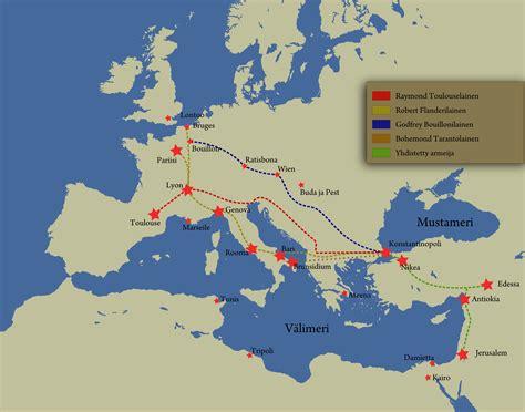 map of crusades perang salib 1095 1291 m sebab sebab terjadinya perang