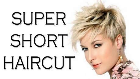 super short hairstyles 2018