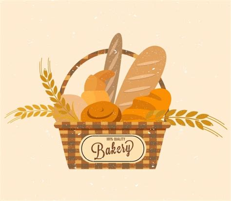 Home Decoration Images by Bakery Logo Design Bread Basket Barley Icons Decor Vector